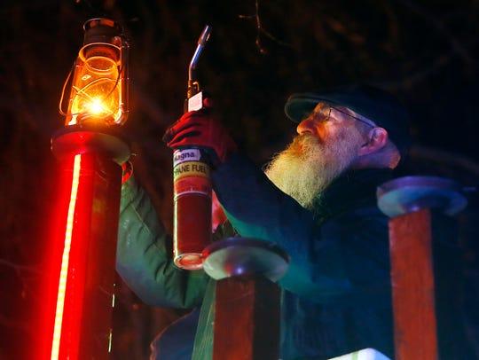 The annual Menorah lighting on the Morristown Green.