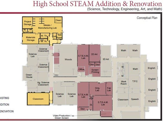 Winneconne residents will vote April 5 to approve a $12.5 million referendum for the addition of an auditorium and STEAM labs at the high school.