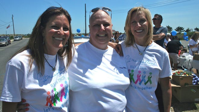 Michele Gannon (left), co-founder of Mary's Place by the Sea, stands with guest Beth Hahn (middle) and Co-founder Maria McKeon.