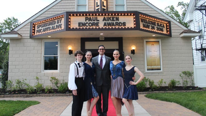 (From left) Trey Luciano, Alexandra Bisignaro, Michael Testa Jr., Angelina Bartolozzi, Elly Petitdemange at the Eagle Theater, site of the 21st annual Paul Aiken Encore Awards on May 24.