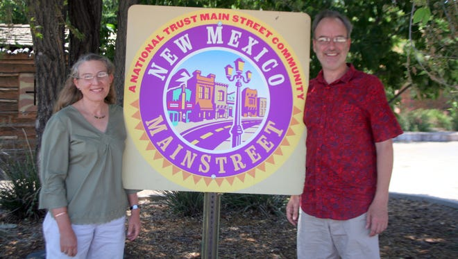 From left, new Silver City MainStreet executive director Charmeine Wait and Board of Directors president Patrick Hoskins.