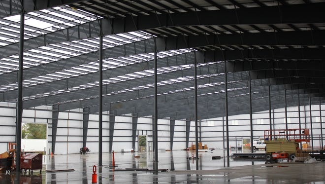 The inside of Agri-Industrial Plastics' 104,000-square-foot expansion in Fairfield.