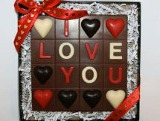 All-chocolate Bingo board at Enjou Chocolat in Morristown