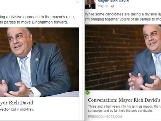 An aide with Mayor Richard David's campaign altered