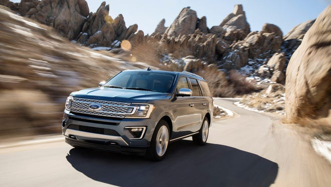 The 2018 Ford Expedition features an aluminum body.