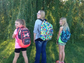 7th grade, 3rd grade, and 3rd grade. First day of school in Sioux Falls!!