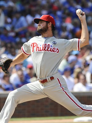 Philadelphia Phillies' pitcher Cole Hamels struck out 13 en route to the first no-hitter at Wrigley Field in 50 years.