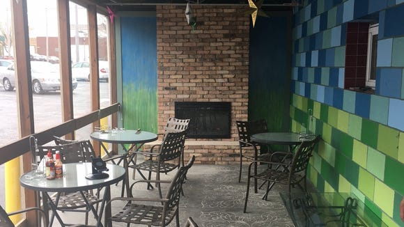 The enclosed patio at Boo-Boo's, 405 S. 2nd St., has