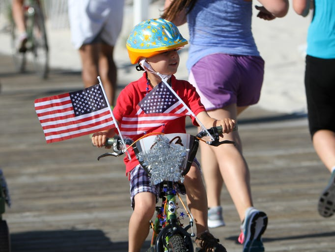 Lavalette, NJ - The second annual Bike Parade on the Lavalette Boardwalk at President Ave.