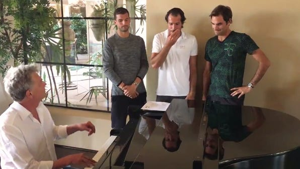 Roger Federer posted a hilarious video of his new boy
