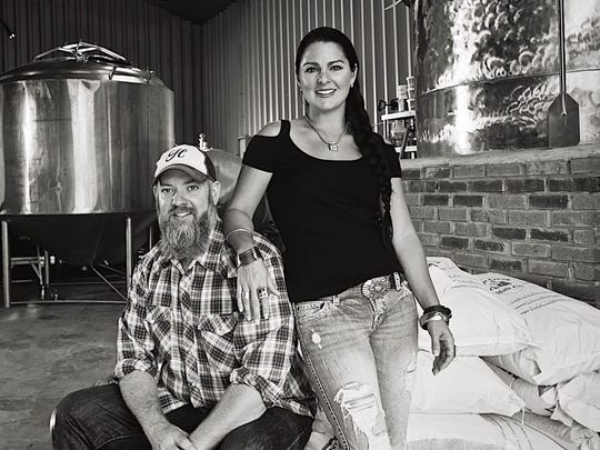 Brewer and owner Brian Nentrup, and his wife, Stephanie