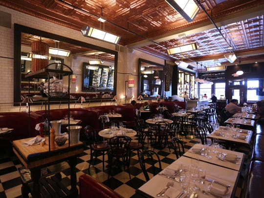 The dining room at Brasserie 292 on Main Street in