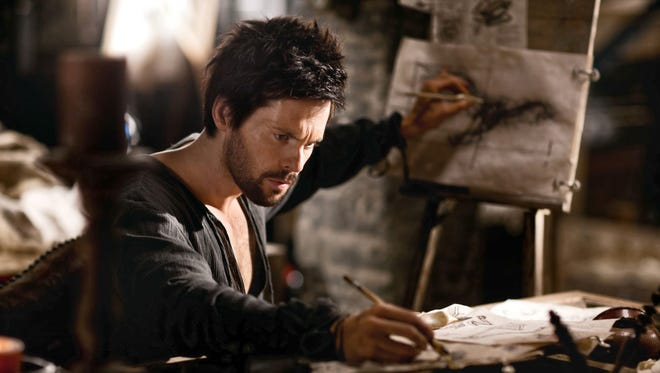 "Tom Riley as Leonardo Da Vinci in a scene from ""Da Vinci's Demons,"" which concludes a great season."