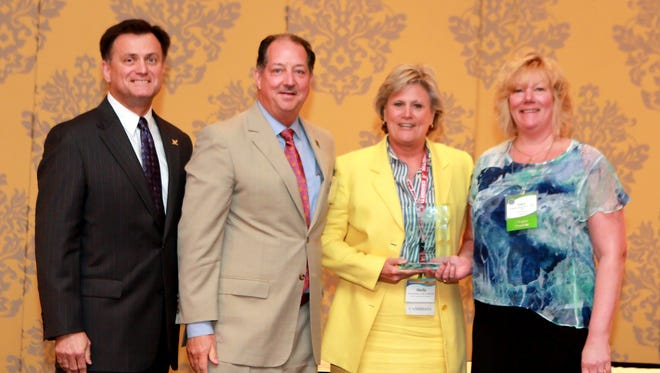 On hand for the award presentation were Paul Rockar, CEO of the American Physical Therapy Association; Tad Fisher, CEO of the FPTA; Sheila Nicholson, immediate past president of the FPTA; and Kathy Swanick, FPTA president.