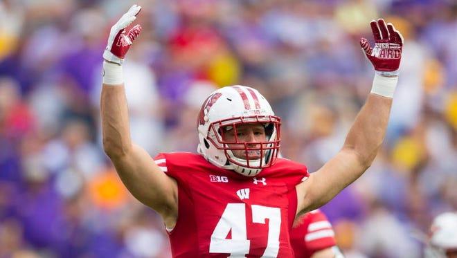 Wisconsin linebacker Vince Biegel.