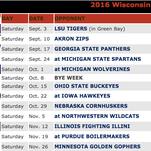 2016 Wisconsin Badgers football schedule