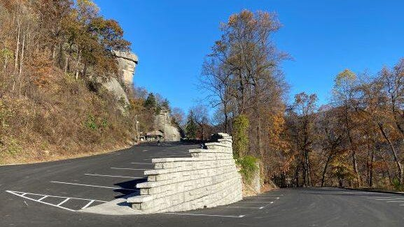 A 10-month construction project on the upper parking lot has been completed at Chimney Rock State Park.