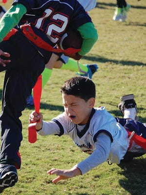 First Baptist Church in Fairview offers the chance to learn fundamentals with Upward Flag Football.