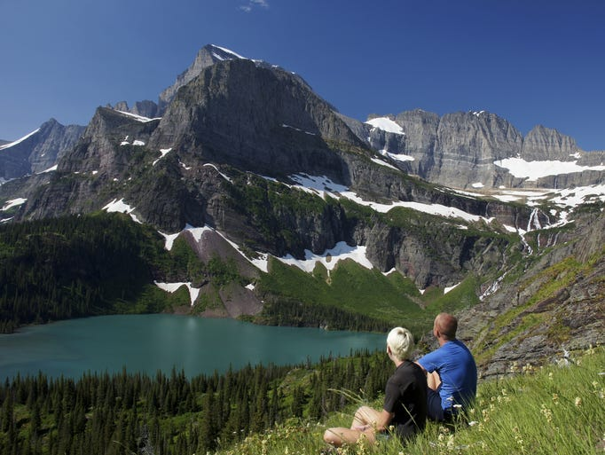 """The great state of Montana, ranked fourth in size yet 44th in population, gets its name from the Spanish word for """"mountain,"""" and it's easy to see why. The 41st state to join the Union is dotted with so many mountain ranges, you've probably never heard of most of them. Pictured here is Glacier National Park."""