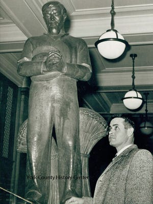 Thanksgiving statue from the March 1960 Gazette and Daily