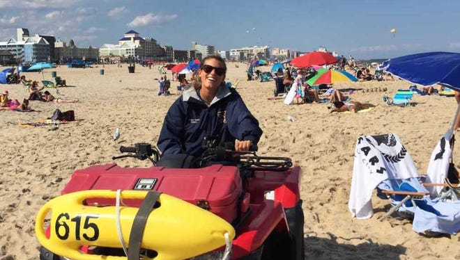 Caroline Oakey, coordinator for the Junior Beach Patrol program in Ocean City.