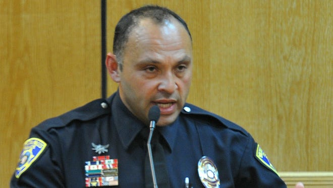 Wichita Falls police officer Gabe Vasquez testified, Wednesday morning, during the punishment phase of the Willie Maurice Hervey Jr. murder trial held in the 89th District Courtroom.
