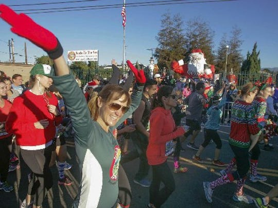 The Santa to the Sea race is Sunday.