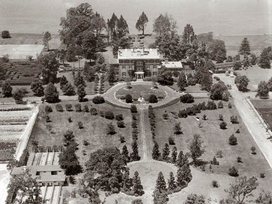 This 1940 aerial photo shows the Raskob Estate at Pioneer Point seen on the Eastern Shore in Maryland. Reports indicate the property was bought by the Soviet Union in the 1970s and historically served as a recreational getaway for its diplomats seeking a respite from the diplomatic whirl in nearby Washington, D.C.  The Obama administration is shutting access to a New York retreat and the swanky Maryland riverfront compound where Russian diplomats played tennis, sailed and escaped the political bustle, saying those doubled for intelligence activities.