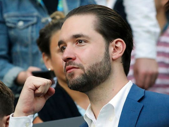 "FILE - In this Jan. 28, 2017, file photo, Alexis Ohanian, fiance of Serena Williams, watches Williams play her sister, Venus, in the women's singles final at the Australian Open tennis championships in Melbourne, Australia. A spokeswoman for Serena Williams says the tennis star is pregnant. Earlier in the day, Williams posted a photo of herself on the social media site Snapchat with the caption ""20 weeks."" Williams announced in late December that she was engaged to Reddit co-founder Ohanian."