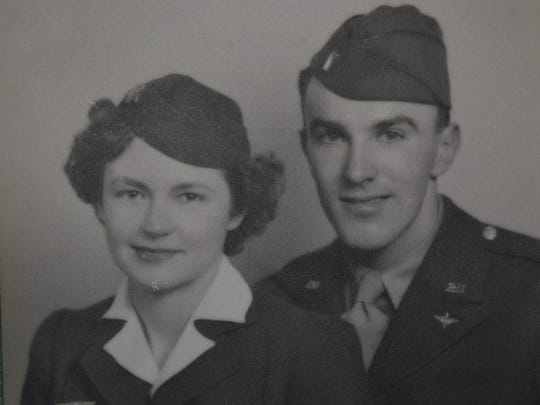Verne Rockcastle met his wife, Madeline Thomas, at Syracuse soda shop. He was selected for military training in weather forecasting at MIT while she was a stewardess with American Airlines.
