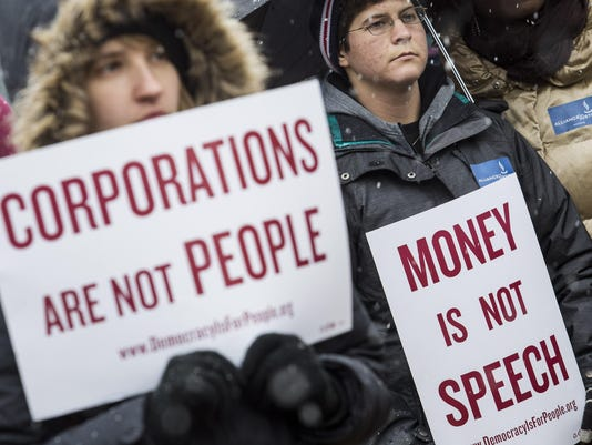 Rally Held Marking 5th Anniversary Of Citzens United Decision Aims To Draw Attention To Corporate Money In Politics