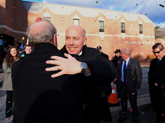 Teaneck Police Chief Robert Carney, seen during his retirement ceremony in December 2016, left after28 years at a salary of $191,433.