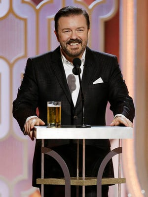 Ricky Gervais hosted the Golden Globe Awards on Jan. 10.