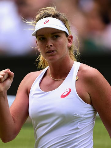 Coco Vandeweghe of the United States reacts in her