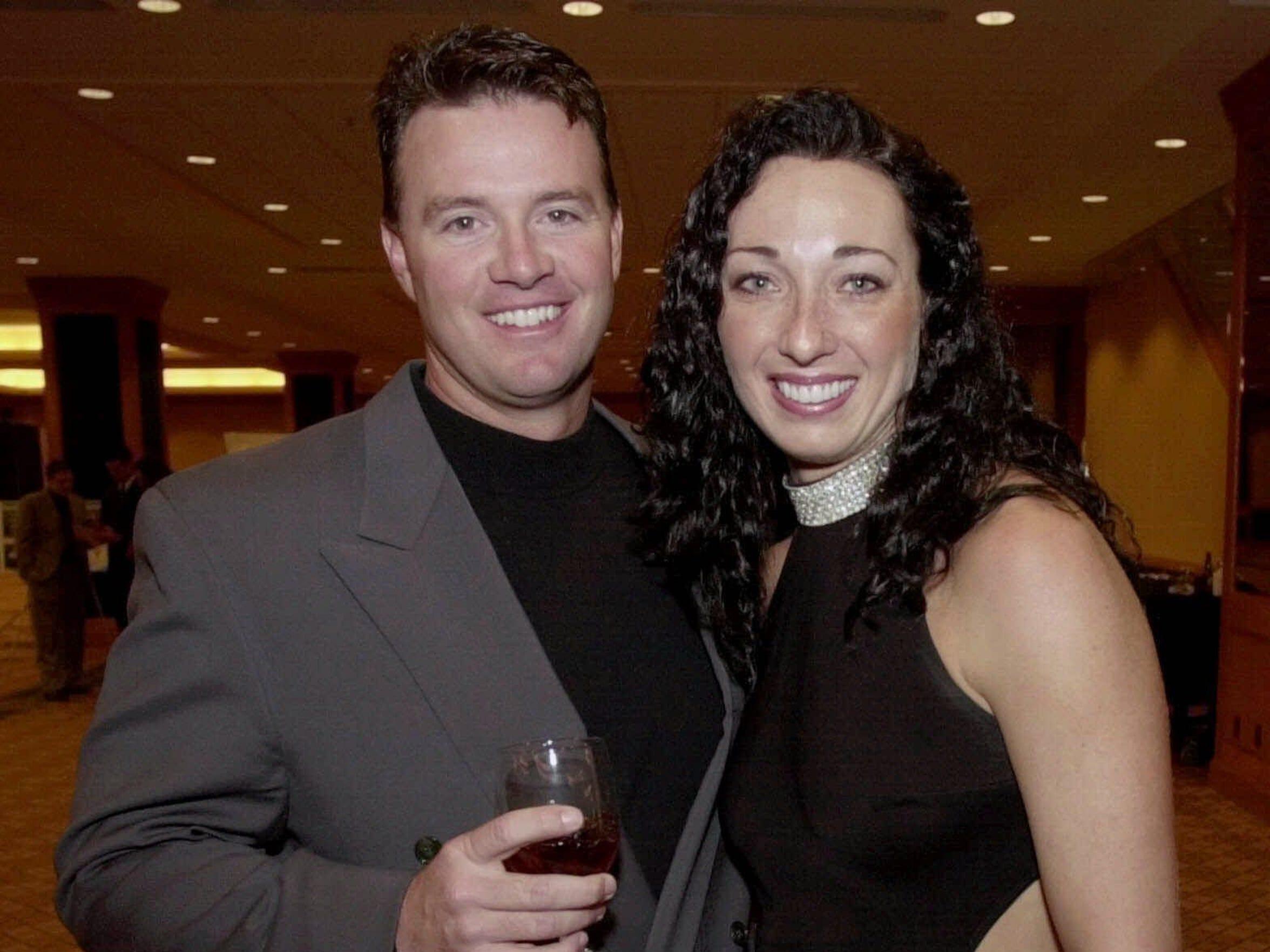 A team: Amy Van Dyken and Tom Rouen at a Colorado Sports