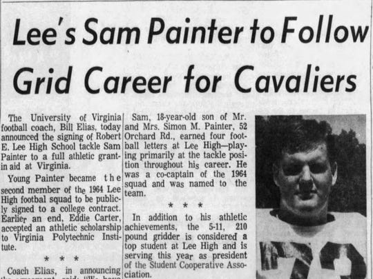 Sam Painter will be part of the Robert E. Lee/Booker T. Washington Hall of Fame when he's inducted in September.