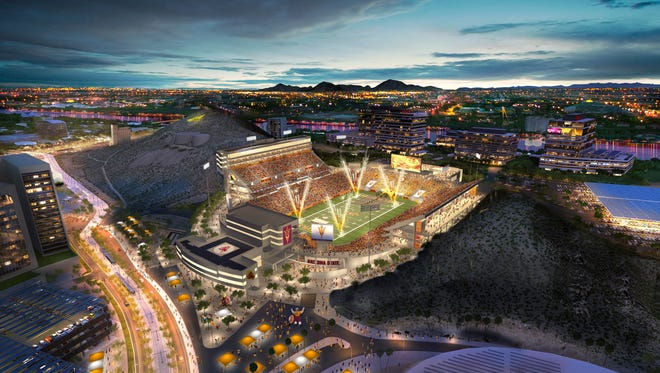 Arizona State University released a rendering of Sun Devil Stadium in March.