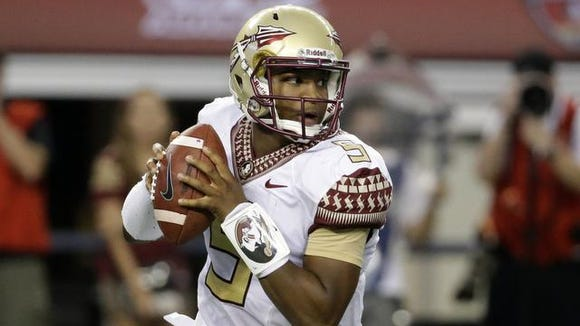 Heisman Trophy winner Jameis Winston won't play the first half of Saturday's game after yelling a vulgarity in public.