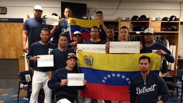 Tigers coach Omar Vizuel tweeted this picture from the clubhouse this morning.