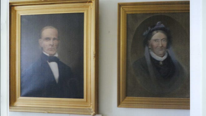 These portraits show Jeremiah and Mahala Hawkins, who came to Victor in 1815 from Long Island.