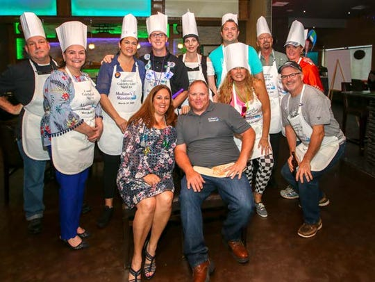 Participating in the Celebrity Chef fundraiser, were,