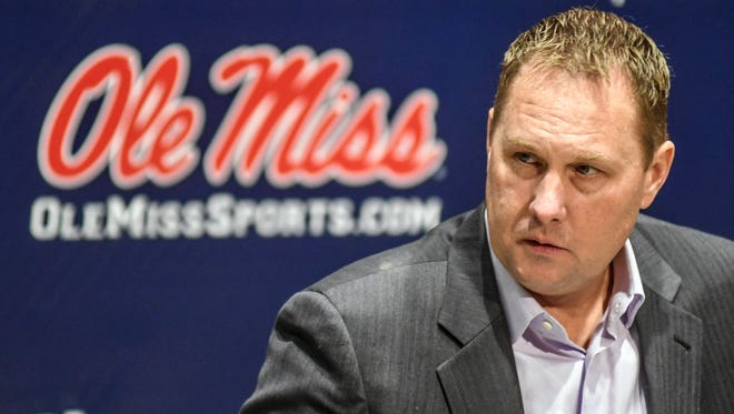 Ole Miss head football coach Hugh freeze speaks during a press conference at the Manning Center in Oxford, Miss., Friday, Dec. 16, 2016.
