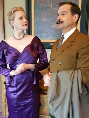 "Kellie Kramer and Greg Blumhagen play a wealthy British woman and the title role ""The Real Inspector Hound,"" an Integral Artists Theatre production through June 7 at Westminster Presbyterian Church."