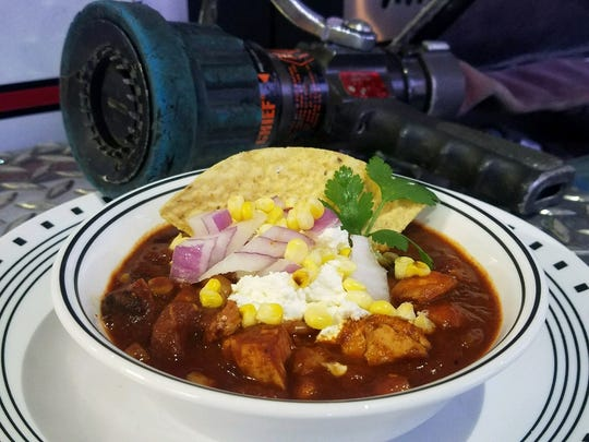 """Craig Weinbaum submitted his """"Not So White"""" chicken chili into the Hormel Chili's America's Best Firehouse Chili Contest."""
