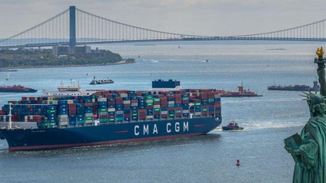 The CMA CGM Brazil, the largest container ship to ever dock on the east coast, will call on the Port of Savannah Friday morning. The ship is expected to make its way up the Savannah River along River Street around 8 a.m. or shortly after.