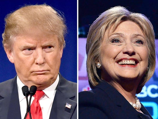 Donald Trump and Hillary Clinton are the front-runners