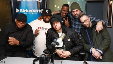 Eminem tight-lipped about album during radio interview