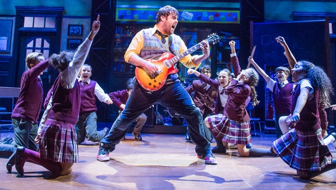 """""""School of Rock,"""" based on the popular Jack Black movie, is at the Auditorium Theatre Saturday, Sept. 30 through Saturday, Oct. 7. (The original London cast is pictured.)"""