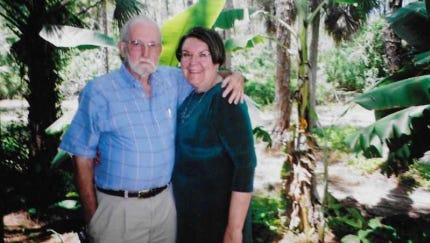 John Norman and his wife, Tara Norman. John Norman was best known as the voice of Southwest Florida's Swamp Buggy Races and the founding president of the Collier County Fair.