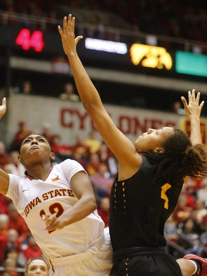 Iowa State's Seanna Johnson has been a rebounding machine for the Cyclones.